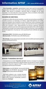 Informativo AFFAF 01