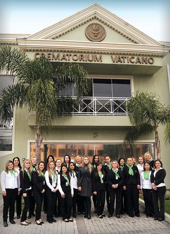 Equipe de atendimento da empresa Vaticano